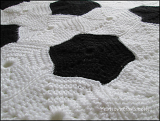 Ravelry soccer blanket rectangular or circular pattern by yarn twins dt1010fo