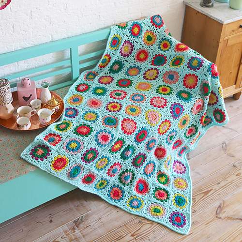 Ravelry Granny Square Blanket Pattern By Yarnplaza