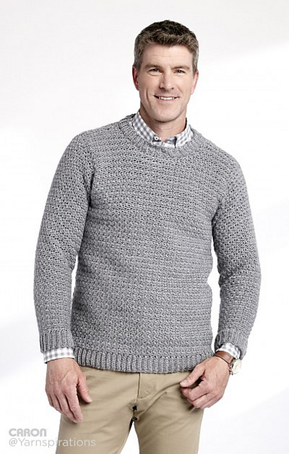 Ravelry: Adult Crochet Crew Neck Pullover pattern by Yarnspirations