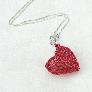 Ravelry: DIY Wire Crochet Heart Pendant , step by step instruction ...