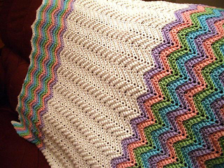 Ravelry Rickrack Rainbow Baby Blanket Pattern By Red Heart Design Team