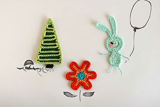 Ravelry: woodland creatures appliques bunny set pattern by olga