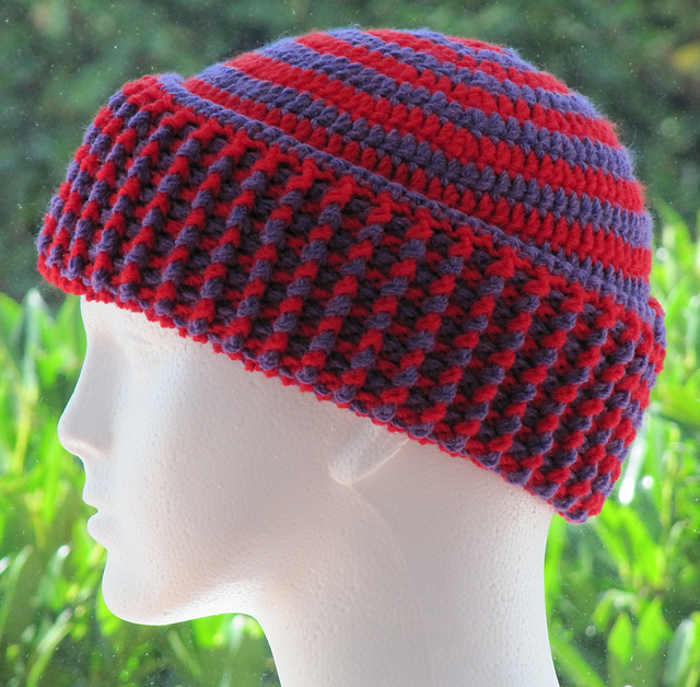 Ravelry Chunky 2 Color Spiral Hat Pattern By Zoe Deterding