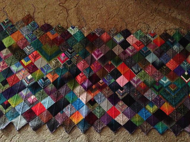 Ravelry Zoeknitgirls Version Of The Sock Yarn Blanket Pattern By