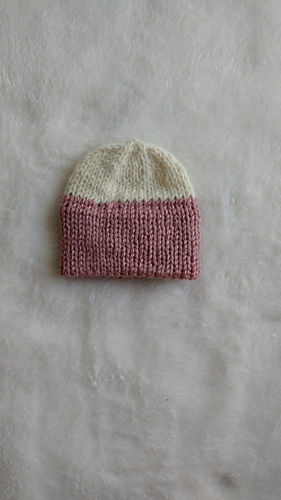 Ravelry Quick Knit Double Brim Preemie Hat Pattern By