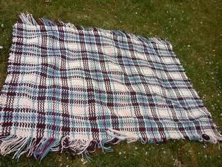 Ravelry Woven Scotch Plaid Afghan 5212 Pattern By
