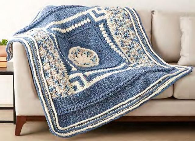 Ravelry: Bernat Blanket Stitch All Along: Crochet pattern by