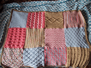 Knitting Pattern Sampler Afghan : Ravelry: Sampler Afghan (Knit) pattern by Red Heart Design Team