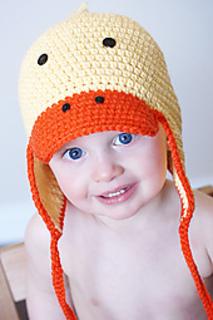 59bfa536b8d Ravelry  Just Ducky Earflap Hat pattern by Adrienne Engar