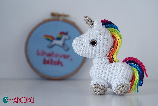 Ravelry Tiny Unicorn Amigurumi Pattern By Ahooka Migurumi Classy Unicorn Crochet Pattern