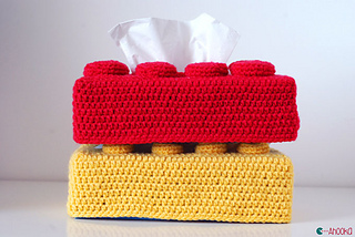 Ravelry Lego Brick Tissue Box Cover Pattern By Ahooka
