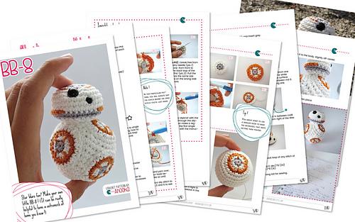 Free Star Wars Bb 8 Crochet Pattern : Ravelry: Star Wars BB8 pattern by Ahooka Migurumi