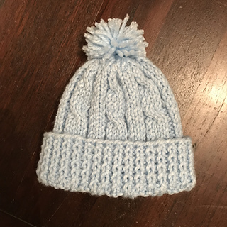 af3c3c8089d4 Ravelry  Cabled Baby Hat pattern by marianna mel