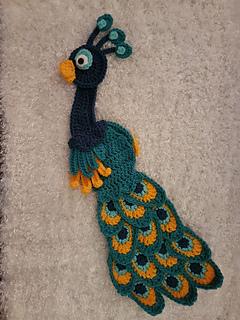Ravelry Peacock Crochet Applique Pattern By Amy Styer