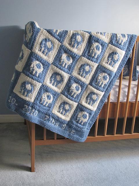 Ravelry: Elephant Blocks Baby Blanket pattern by Alexandra Charlotte ...
