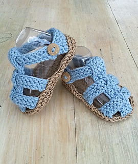 a66be027c Ravelry  Baby Boys Knit Summer Sandals pattern by Alma Mahler
