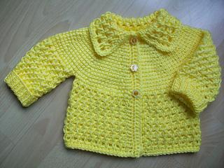 11529e121 Ravelry   3 yellow Tunisian Baby sweater pattern by Viola Jack