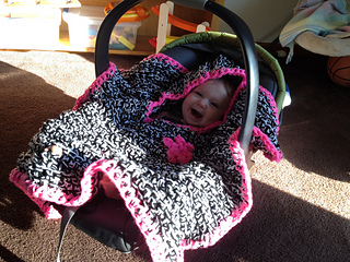Ravelry Car Seat Hooded Baby Blanket Pattern By Semi Sweet Charm