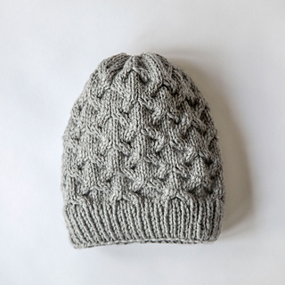 1f40b83f048 Ravelry  Diamond Cable Knit Hat pattern by Leelee Knits