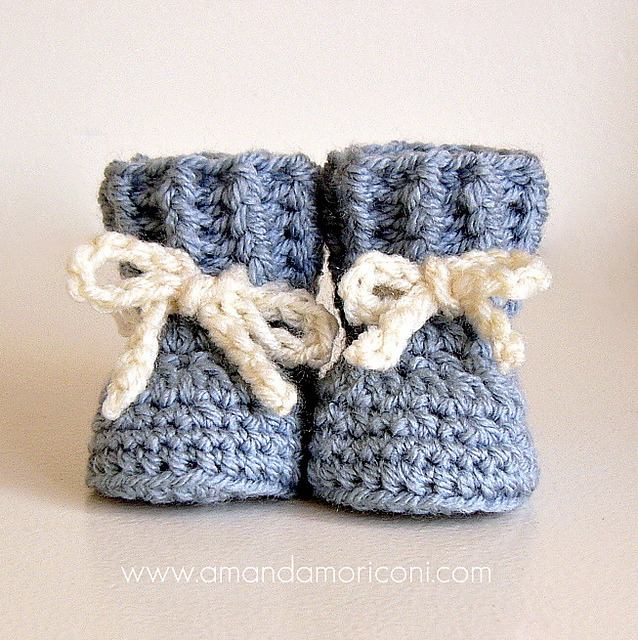 e7ced5af7 Ravelry  Lovely Laces Crochet Baby Booties Pattern pattern by Amanda ...