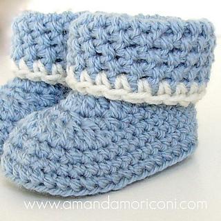 658fd3f29de Cozy Cuffs Crochet Baby Booties Pattern pattern by Amanda Moriconi