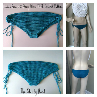 9dfffda162 Ravelry  Ladies Size 6-8 String Bikini Bottom pattern by Aprile Mazey