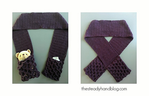 Ravelry: Crocodile Stitch Pocket Scarf for Children and Adults ...