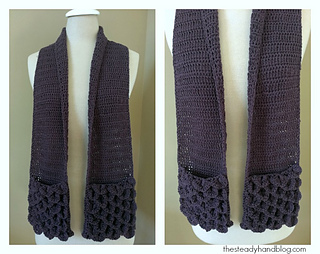 Ravelry Crocodile Stitch Pocket Scarf For Children And Adults