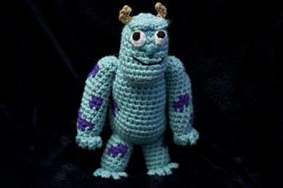 Amigurumi Monsters Inc : Mike wasowski monsters inc amigurumi doll by zulemax cute