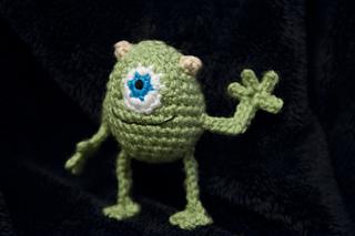 Amigurumi Monsters Inc : Ravelry mike wazowski monsters inc amigurumi crochet pattern