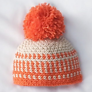 Ravelry  Faux-Colorwork Moss Stitch Baby Hat pattern by Allison McDonough 0d209a4b44c