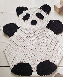 Ravelry: U0027Pudgyu0027 Panda Rug Pattern By Jenny Reid