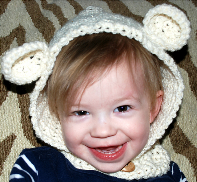 Ravelry Bear Hooded Cowl Toddler And Child Sizes Pattern By Amy