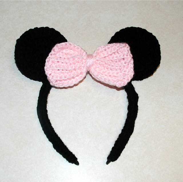 Ravelry Mickey And Minnie Mouse Headband Pattern By Amy Lehman
