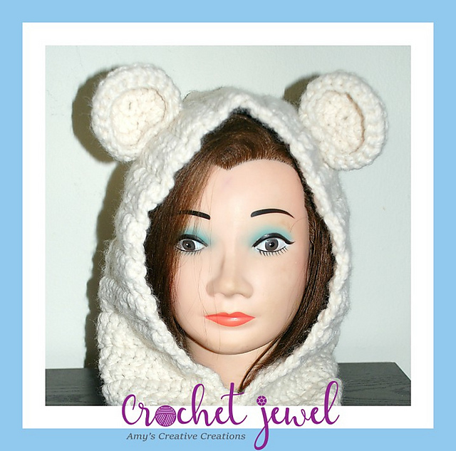 5889d4c8083 Ravelry  Adult or Child Bear Cowl pattern by Amy Lehman