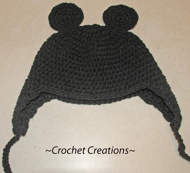 Ravelry Mickey Mouse Earflap Child Hat Pattern By Amy Lehman
