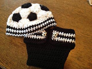 3f5c68784f3 Ravelry  Newborn Soccer Hat and Diaper Cover pattern by Kara Gunza