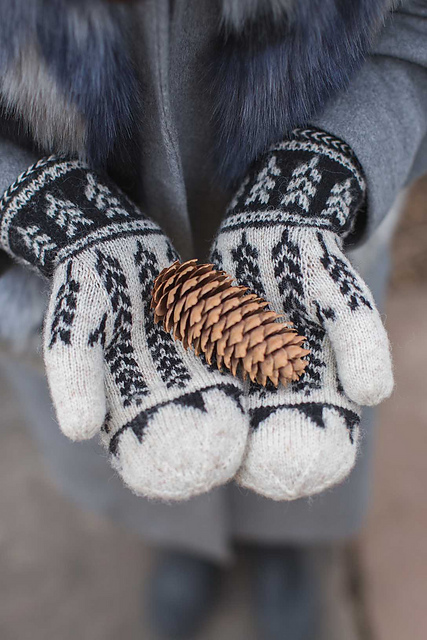 Ibex Valley Mittens par Little Church Knits