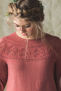 Rose Bush Pullover pattern by Irina Anikeeva