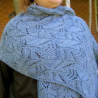Ravelry Tamura Mock Cable Lace Shawl Pattern By Linda Lehman