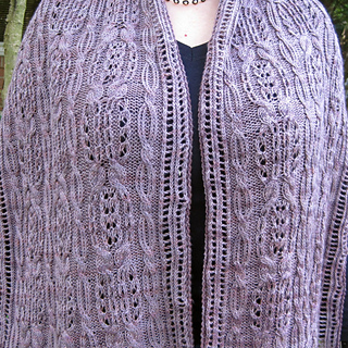 Ravelry Asahi Cable Lace Shawl Pattern By Linda Lehman