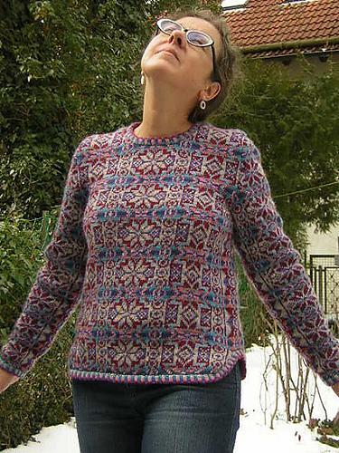Ravelry: Shirt Tail Fair Isle Pullover pattern by Ann Feitelson