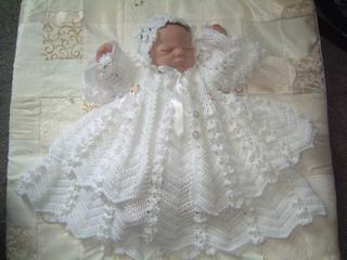de3ea60e6a99 Ravelry  Daisy chain christening gown set pattern by Karen Ashton-Mills