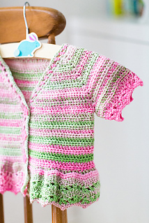 Ravelry Rosetta Baby Cardigan Pattern By Annelies Baes