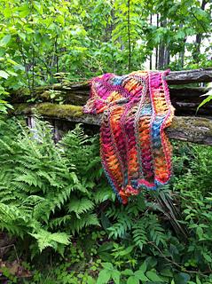 Hairpin Lace Flowers Scarf Crochet Pattern Red Heart