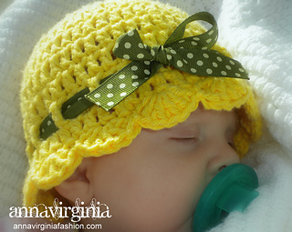 1c0b6be1127 Ravelry  Baby Flapper-Girl Hat pattern by Anna Virginia