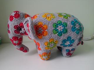 Nellie The Elephant African Flower Crochet Pattern Free