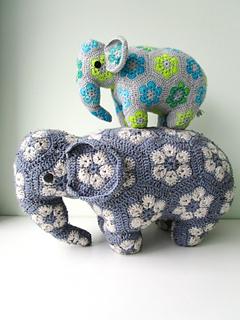 African Flower Crochet Elephant Pattern Free - Flowers Healthy