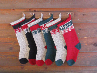 ravelry ragg wool christmas stocking pattern by annies woolens