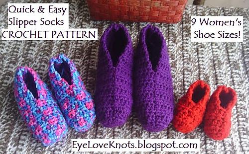 Ravelry Women's Quick Easy Slipper Socks Pattern By Alexandra Classy Easy Crochet Slipper Pattern